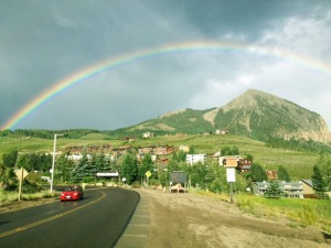 mount crested butte with rainbow