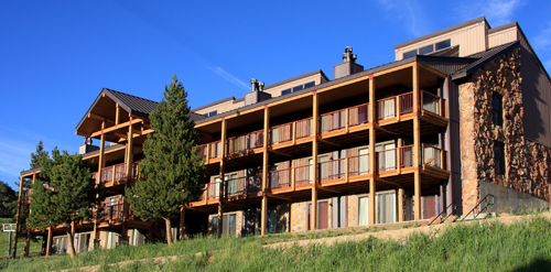 Beautiful remodeled San Moritz in Crested Butte Colorado in summer